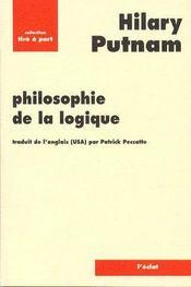 Philosophie de la logique - Couverture - Format classique
