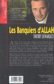 Les Banquiers D'Allah - 4ème de couverture - Format classique