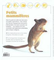 Petits Mammiferes - 4ème de couverture - Format classique