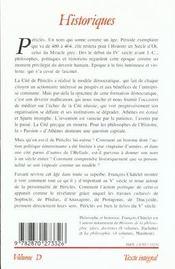 Pericles et son siecle - 4ème de couverture - Format classique