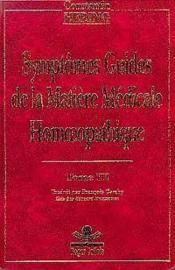 Symptomes Guides Homeopathie T3 - Couverture - Format classique