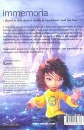 Le cycle d'ezoah t.2 ; immemoria - 4ème de couverture - Format classique