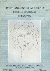 Livres Anciens Et Modernes - Dessins Et Aquarelle Estampes - Couverture - Format classique