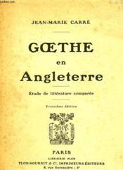 Goethe En Angleterre - Couverture - Format classique