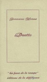 Duetto - Couverture - Format classique