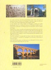 La Via Domitia ; des Pyrenées aux Alpes - 4ème de couverture - Format classique