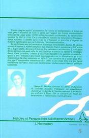 Tunisie ; les chemins vers l'indépendance, 1945-1956 - 4ème de couverture - Format classique