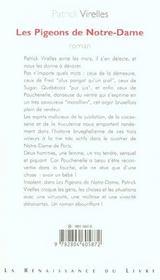 Les Pigeons De Notre-Dame - 4ème de couverture - Format classique