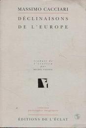 Declinaisons De L'Europe - Couverture - Format classique