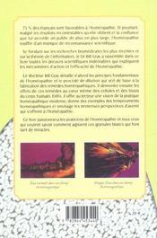 L'Homeopathie Enfin Prouvee ; Medecine Du Futur Et Art De Guerir - 4ème de couverture - Format classique