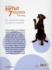 Un chien parfait en 7 leçons - 4ème de couverture - Format classique