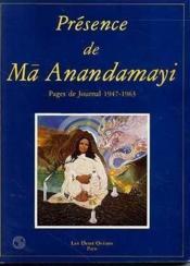 Presence De Ma Anandamayi - Couverture - Format classique