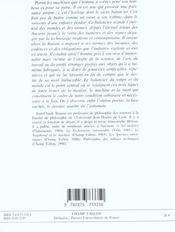 Le Balancier Du Monde - 4ème de couverture - Format classique
