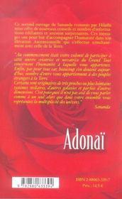 Adonai Au Coeur De L'Amour Tome 2 - 4ème de couverture - Format classique