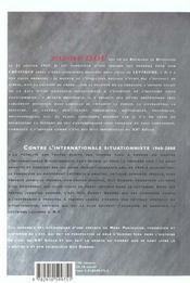 Contre l'internationale situationniste - 4ème de couverture - Format classique