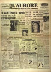 Aurore France Libre (L') N°1308 du 27/11/1948 - Couverture - Format classique