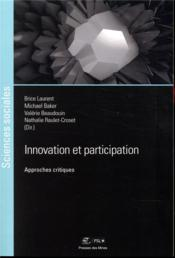 Vente  Innovation et participation - approches critiques  - Laurent/Baker/Beaudo