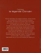 La légende citroën - 4ème de couverture - Format classique