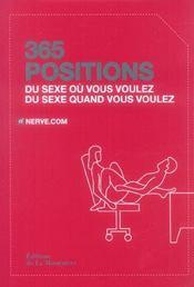 365 positions ; du sexe où vous voulez, du sexe quand vous voulez - Intérieur - Format classique