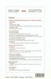 Population N 1-2 Janvier-Avril 2001 - 4ème de couverture - Format classique