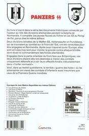 Panzers Ss Dans L'Enfer Normand - 4ème de couverture - Format classique