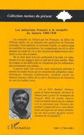 Les Meharistes Francais A La Conquete Du Sahara, 1900-1930 - 4ème de couverture - Format classique