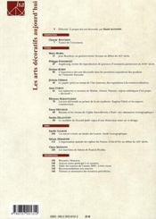 Les arts decoratifs aujourd'hui - 4ème de couverture - Format classique