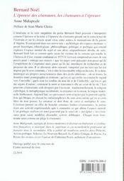 Bernard Noel L'Epreuve Des C/Sensures, Les C/Sensures A L'Epreuve - 4ème de couverture - Format classique