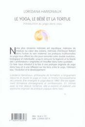 Le Yoga, Le Bebe Et La Tortue ; Introduction Au Yoga Dans L'Eau - 4ème de couverture - Format classique