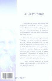 La Clairvoyance - 4ème de couverture - Format classique