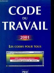 Code Du Travail 2001 - Couverture - Format classique