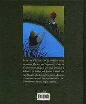 Empereur Des Animaux (L') - 4ème de couverture - Format classique