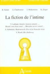La Fiction De L'Intime - Couverture - Format classique