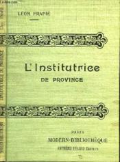 L'Institutrice De Province. - Couverture - Format classique
