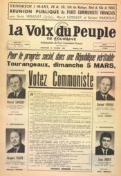 Voix Du Peuple De Touraine (La) N°1335 du 26/02/1967 - Couverture - Format classique