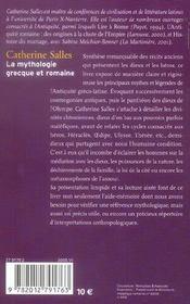La Mythologie Grecque Et Romaine - 4ème de couverture - Format classique