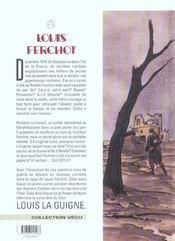 Louis Ferchot t.7 ; le soldat inconnu - 4ème de couverture - Format classique