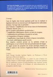 Electronique Radiofrequence - 4ème de couverture - Format classique