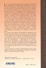 Les Constructions Des Nombres Reels Dans Le Mouvement De L'Arithmetisation De L'Analyse - 4ème de couverture - Format classique