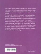 Candide Un Debat Philosophique La Critique De Leibniz Par Voltaire - 4ème de couverture - Format classique