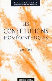 Les Constitutions Homeopathiques - Couverture - Format classique