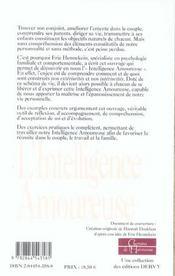 L'Intelligence Amoureuse ; Si Tu Veux Reussir Ta Vie De Couple... Je Te Dirai Comment - 4ème de couverture - Format classique
