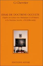 Essai de doctrine occulte - Couverture - Format classique