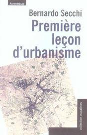 Première leçon d'urbanisme - Intérieur - Format classique