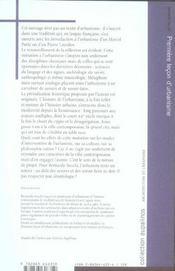 Première leçon d'urbanisme - 4ème de couverture - Format classique