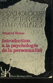 Introduction à la psychologie de la personnalité - Couverture - Format classique