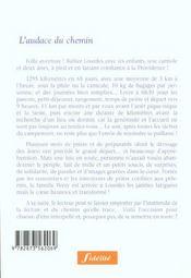 L'Audace Du Chemin. A Pied, A Lourdes, Avec Sx Enfants Et Deux Anes - 4ème de couverture - Format classique
