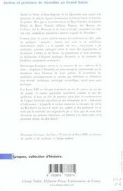 Jardins Et Jardiniers De Versailles Au Grand Siecle - 4ème de couverture - Format classique