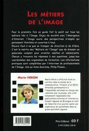 Les Metiers De L'Image - 4ème de couverture - Format classique