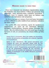 Memoire Quand Tu Nous Tiens - 4ème de couverture - Format classique
